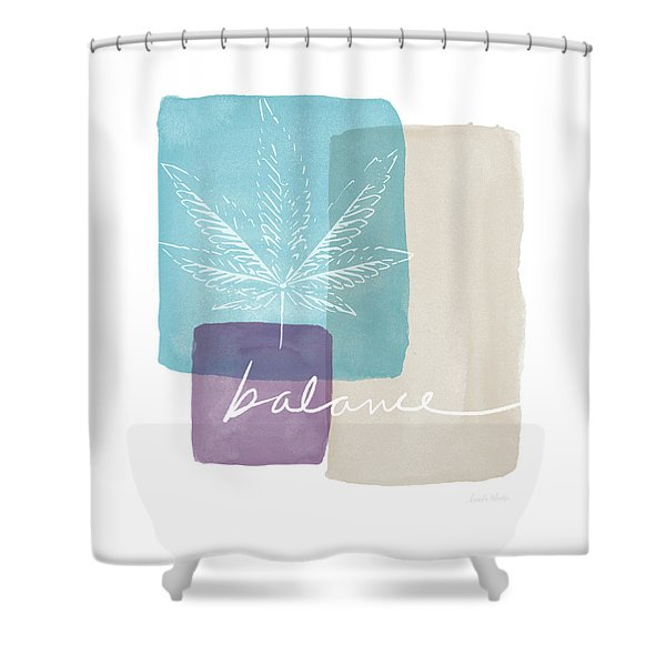 Cannabis Leaf Watercolor 3- Art By Linda Woods Shower Curtain
