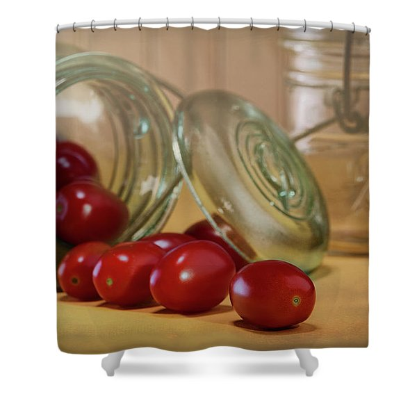 Canned Tomatoes - Kitchen Art Shower Curtain