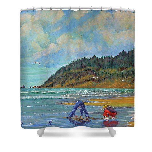 Cannon Beach Kids Shower Curtain