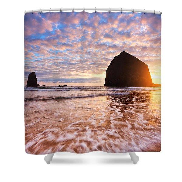 Cannon Beach Sunset Classic Shower Curtain