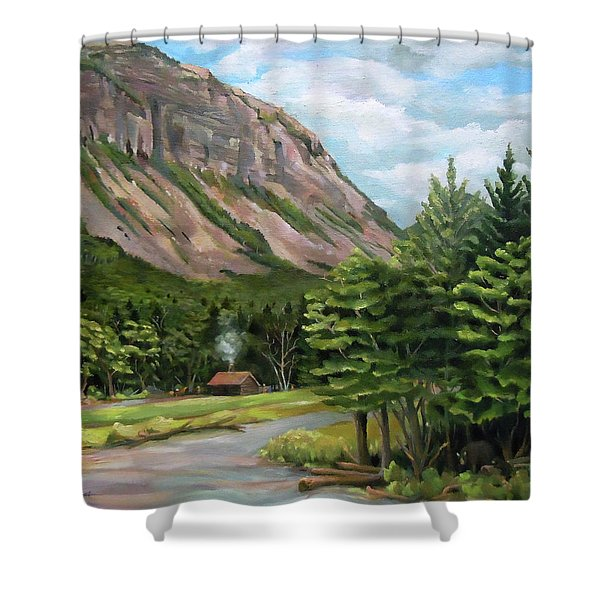 Cannon Cliff New Hampshire Shower Curtain