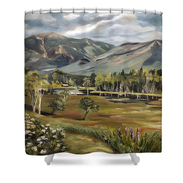 Cannon Mountain From Sugar Hill New Hampshire Shower Curtain