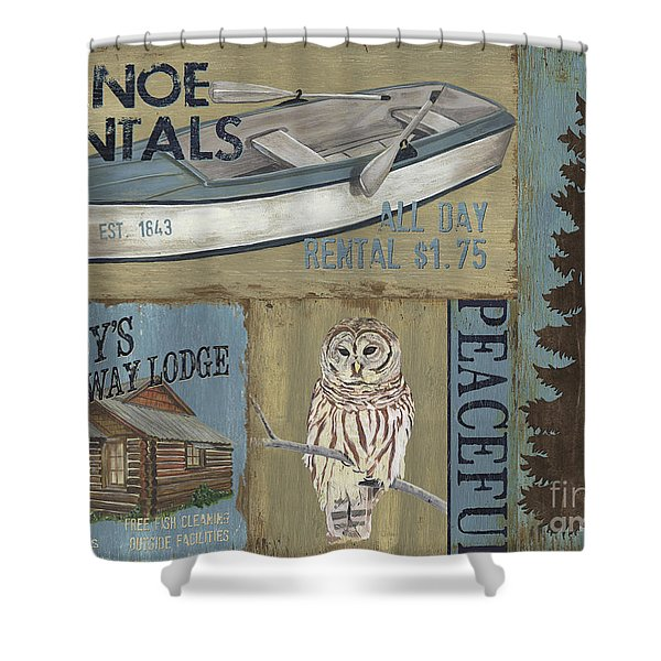 Canoe Rentals Lodge Shower Curtain