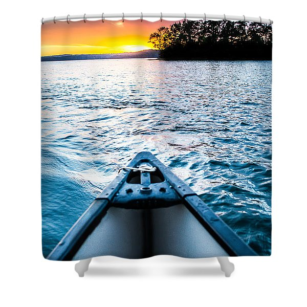Canoeing In Paradise Shower Curtain