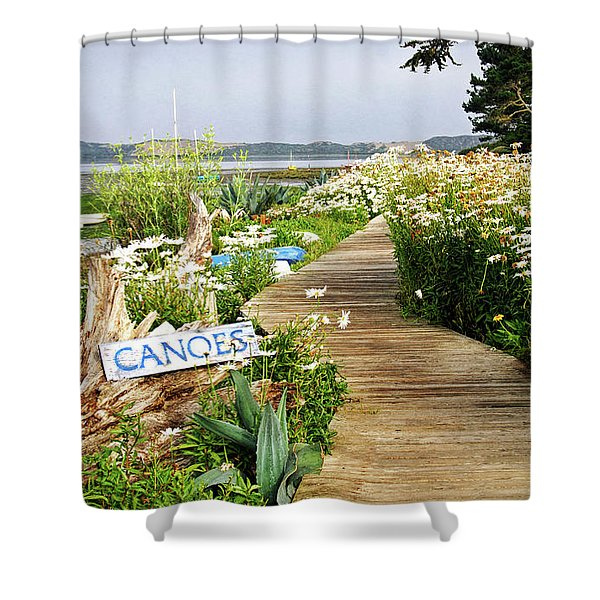 Canoes By Mike-hope Shower Curtain