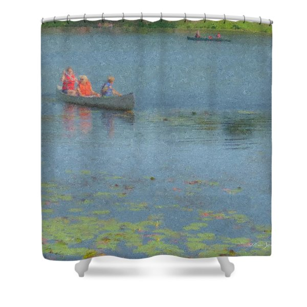 Canoes On Shovelshop Pond Shower Curtain