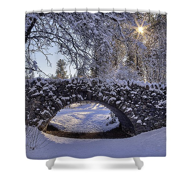 Cannon Hill Park Winter Shower Curtain