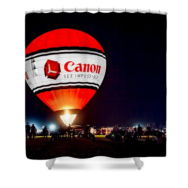 Canon - See Impossible - Hot Air Balloon Shower Curtain