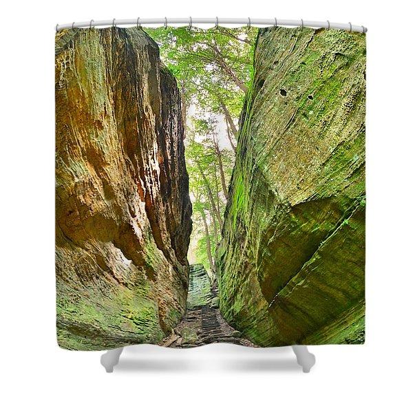 Cantwell Cliffs Trail Hocking Hills Ohio Shower Curtain