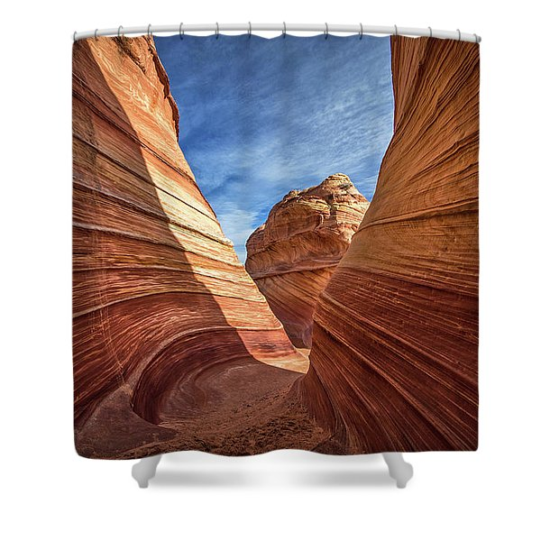 Canyon Atthe Wave Shower Curtain