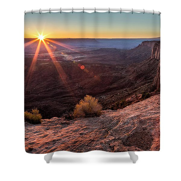 Canyon Country Sunrise Shower Curtain