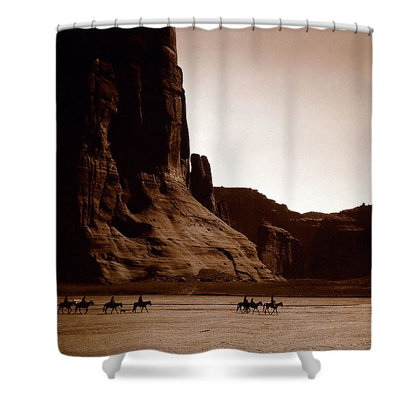Canyon De Chelly 2c Navajo Shower Curtain