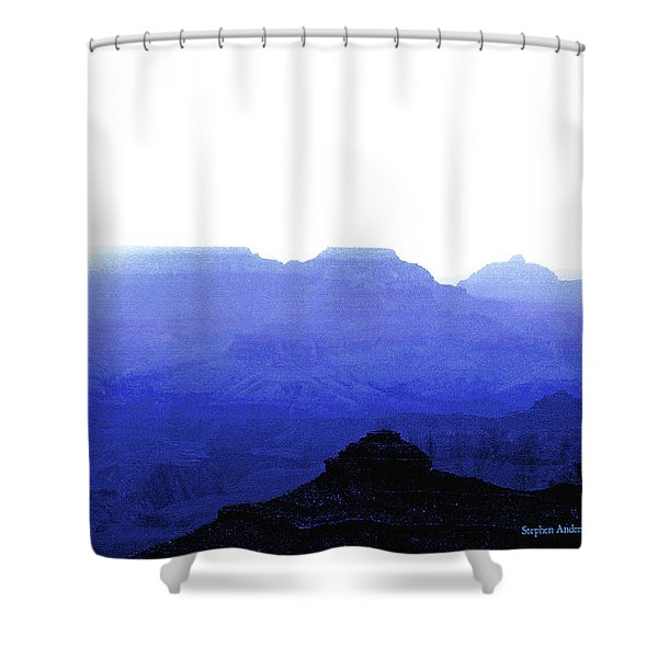 Canyon In Blue Shower Curtain