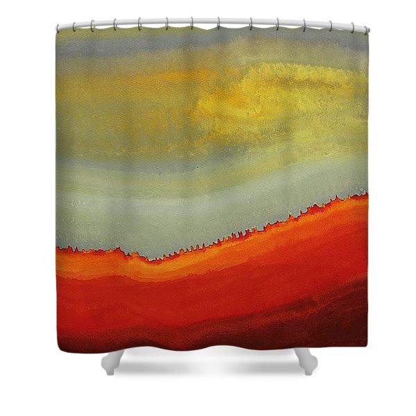 Canyon Outlandish Original Painting Shower Curtain