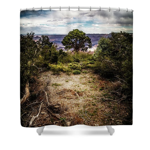 Canyon Sentinel Shower Curtain