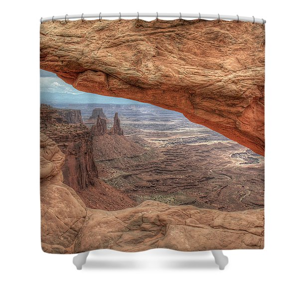 Canyonlands From Mesa Arch Shower Curtain