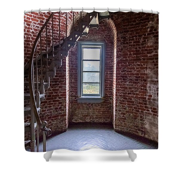 Cape Blanco Lighthouse Shower Curtain