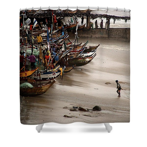 Cape Coast Storm Shower Curtain