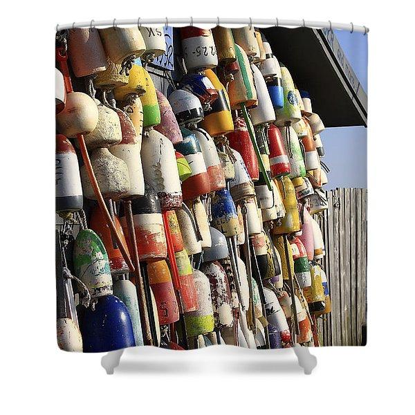 Cape Cod Buoys Shower Curtain