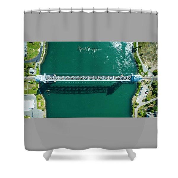 Cape Cod Canal Railroad Bridge Shower Curtain