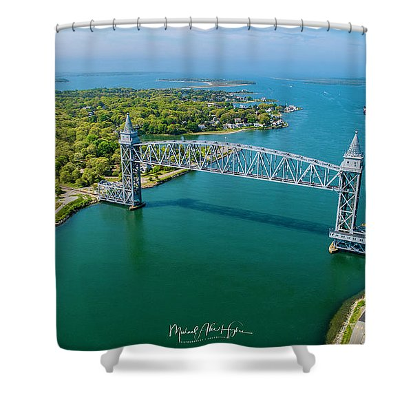 Cape Cod Canal Railroad Shower Curtain
