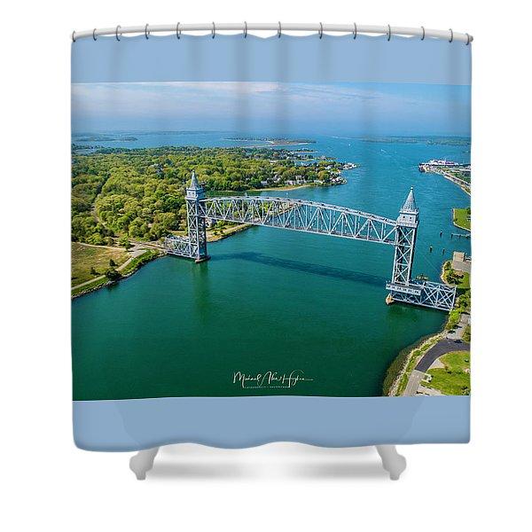 Cape Cod Canal Railroad Shower Curtain