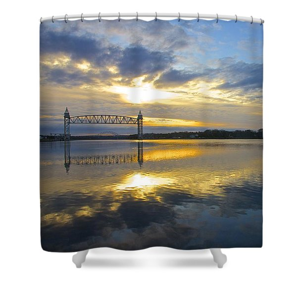 Cape Cod Canal Sunrise Shower Curtain