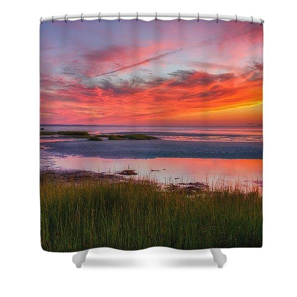 Cape Cod Skaket Beach Sunset Shower Curtain