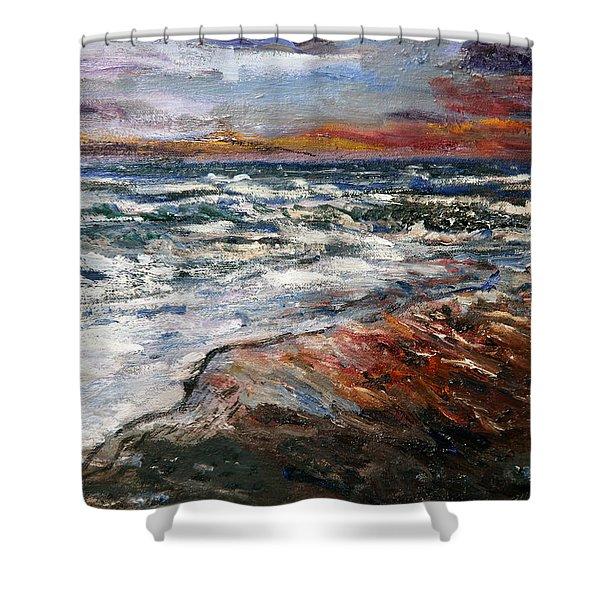 Cape Cod Sunset 1 Shower Curtain