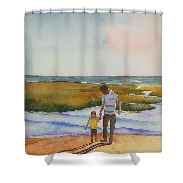 Cape Cod Sunset Shower Curtain