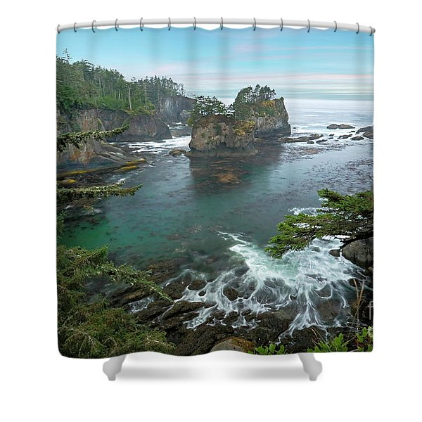 Cape Flattery North Western Point Shower Curtain