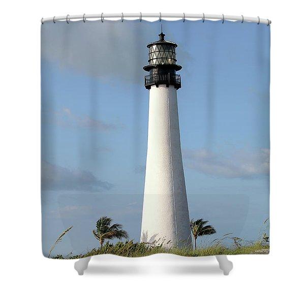 Cape Florida Lighthouse Shower Curtain