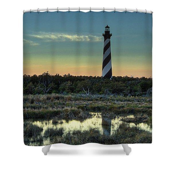 Cape Hatteras Sunset Shower Curtain