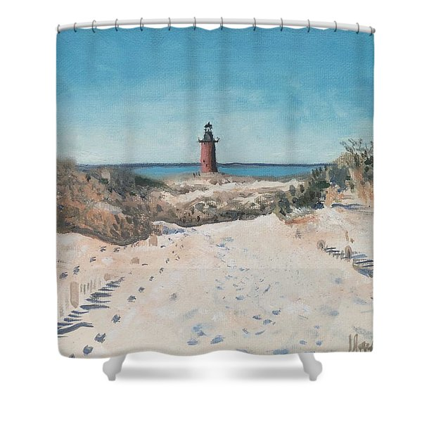 Cape Henlopen Light Shower Curtain