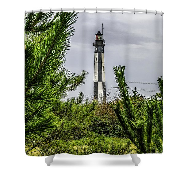 Cape Henry Light From The Dune Shower Curtain
