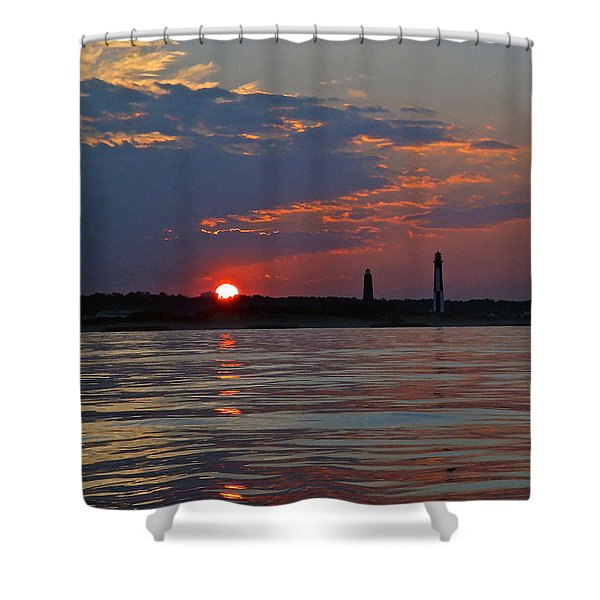 Cape Henry Sunset Shower Curtain