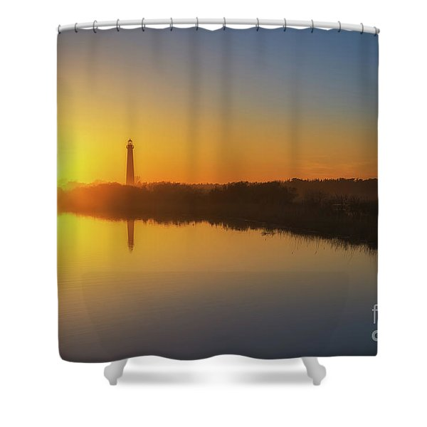 Cape May Sunset Reflections Shower Curtain