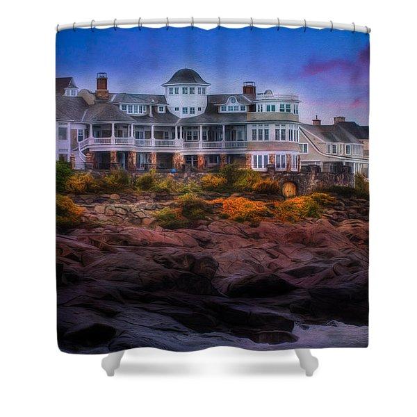 Cape Neddick Maine Scenic Vista Shower Curtain