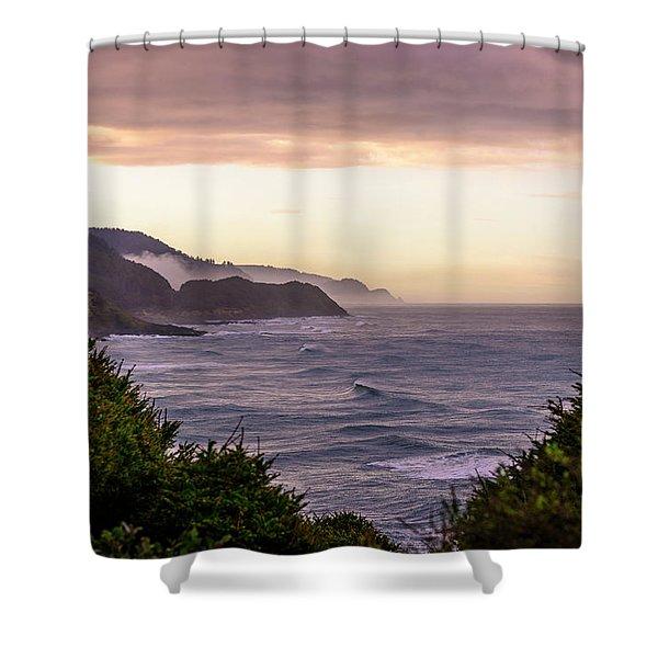 Cape Perpetua, Oregon Coast Shower Curtain