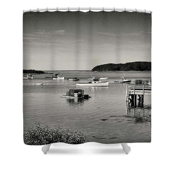 Cape Porpoise Harbor Shower Curtain