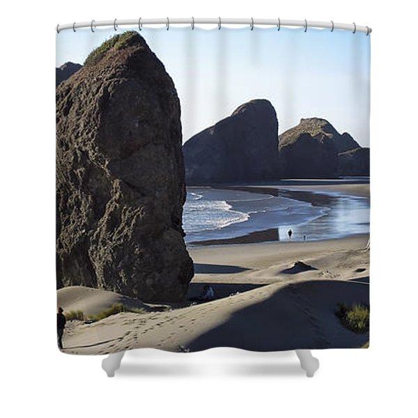 Cape Sebastian - Hunters Cove Area- Oregon Coast Shower Curtain
