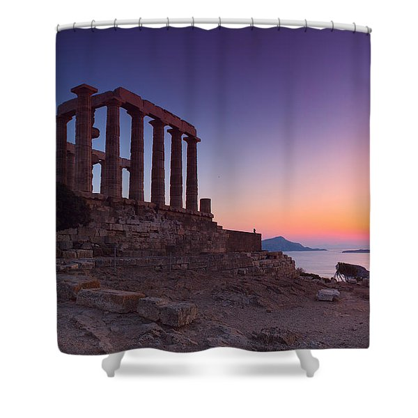Cape Sounion Shower Curtain