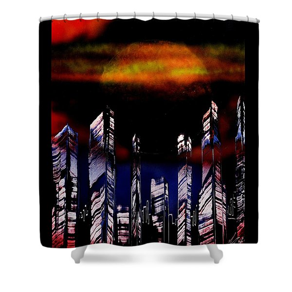 Capital Of The Other Land Shower Curtain