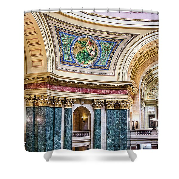 Capitol Rotunda -madison - Wisconsin Shower Curtain