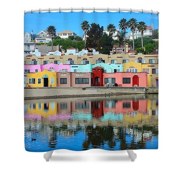 Capitola California Colorful Hotel Shower Curtain
