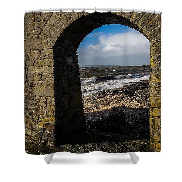 Cappagh Pier And Ireland's Shannon Estuary Shower Curtain