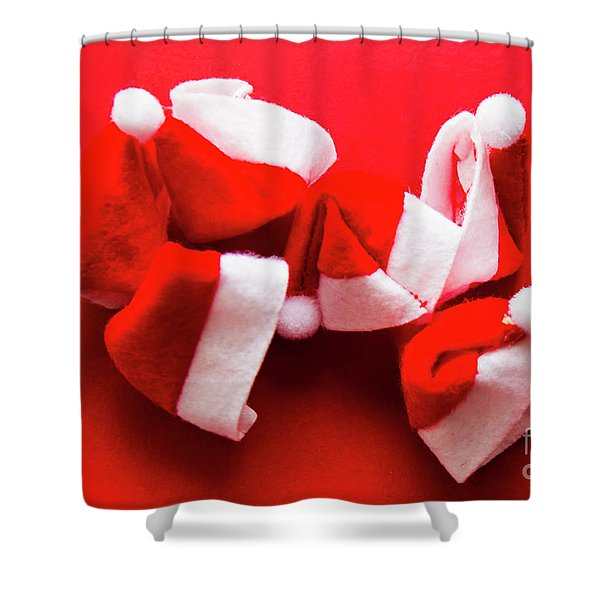 Capping Off A Merry Christmas Shower Curtain
