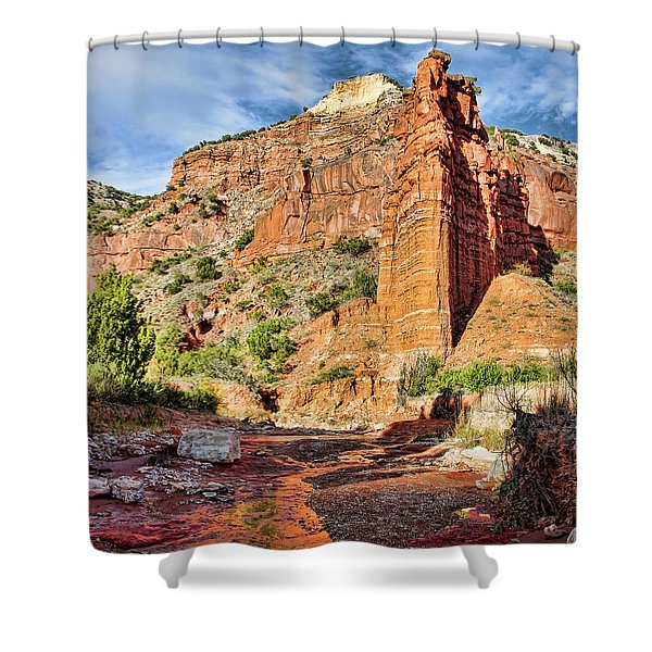 Caprock Canyon Cliff Shower Curtain