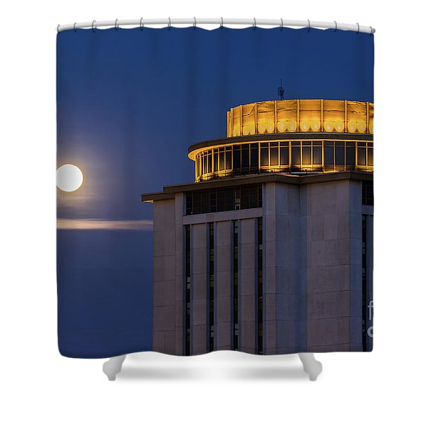 Capstone House And Full Moon Shower Curtain
