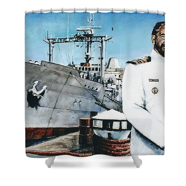 Capt Eric Green Shower Curtain